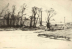 'A Wintry Blast on the Stourbridge Canal' 1890. By Frank Short and courtesy of Simon Meddings. The image is in reverse