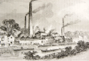 Mid nineteenth century etching of the Iron works in its heyday